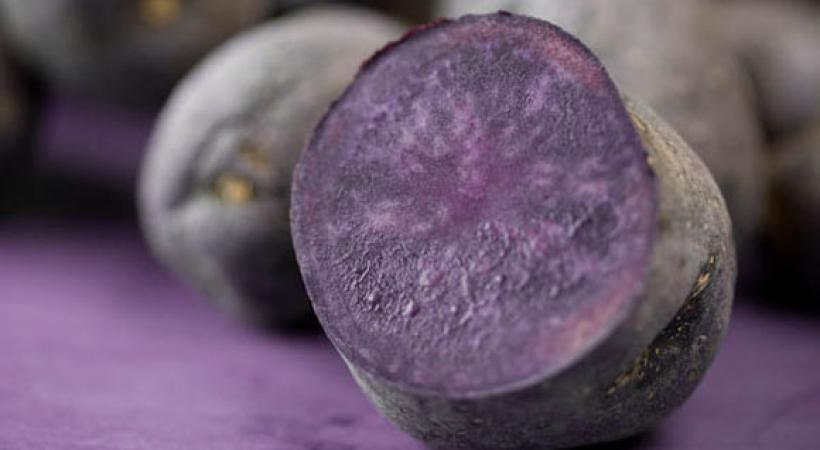 Chips de patates violettes