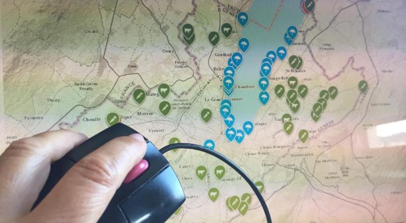Pointer sur la carte les richesses naturelles du canton, selon les envies de découverte. DR