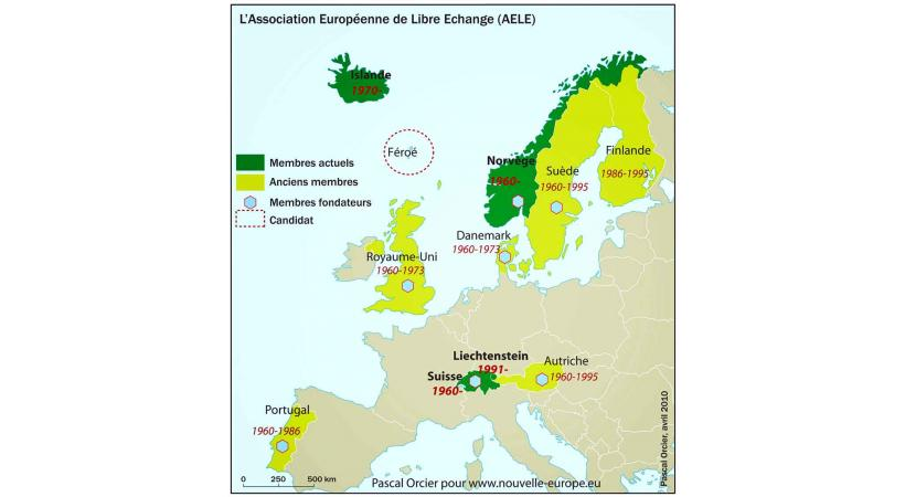 Evolution de l'AELE au fil du temps. Pascal Orcier / www.nouvelle-europe.eu