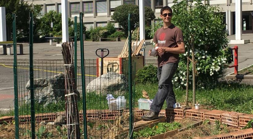 Le petit coin de jardin imaginé par Cyril, le prof de bio, est un formidable outil pédagogique.dr