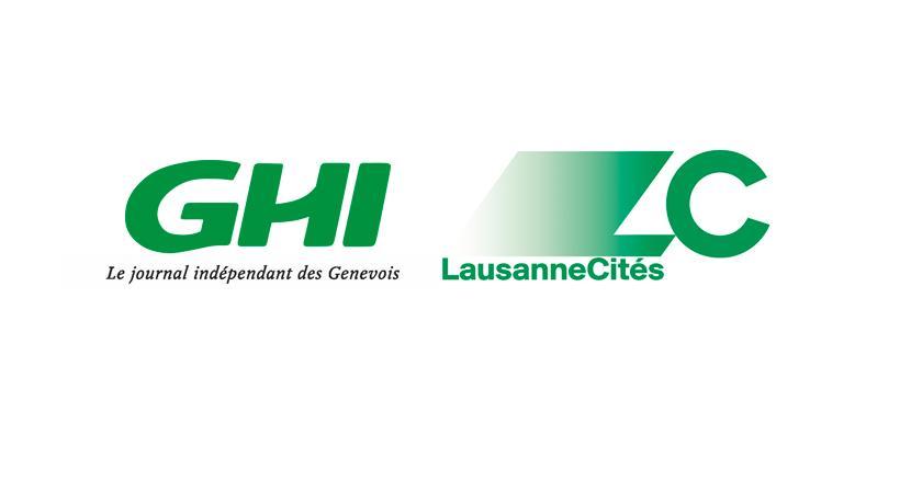 Logos GHI et Lausanne Cités. dr