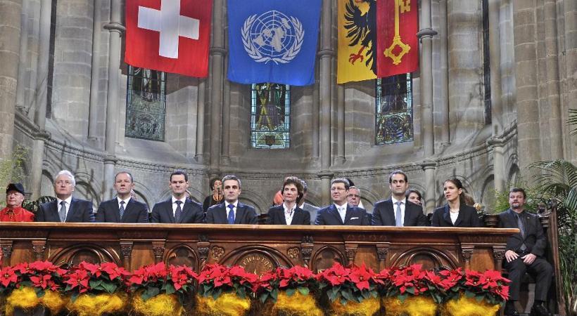 La prestation de serment du nouveau Gouvernement. DAVID RAUSENBAUM-KATZMAN