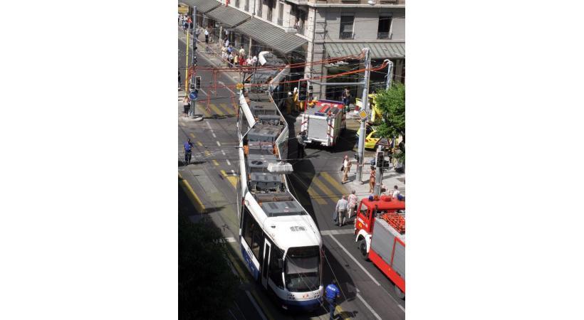 Ce déraillement à la rue du Stand en 2006 était le plus impressionnant. ERIC ALDAG