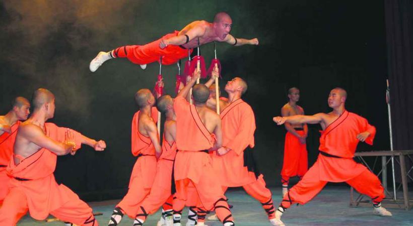 De superbes chorégraphies entre arts martiaux et spiritualité.