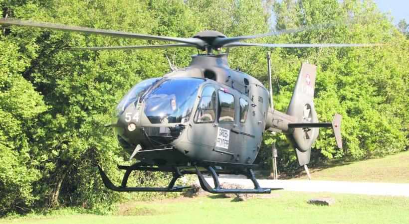 L'appareil militaire a été mis à disposition des gardes-frontièrtes par l'armée.