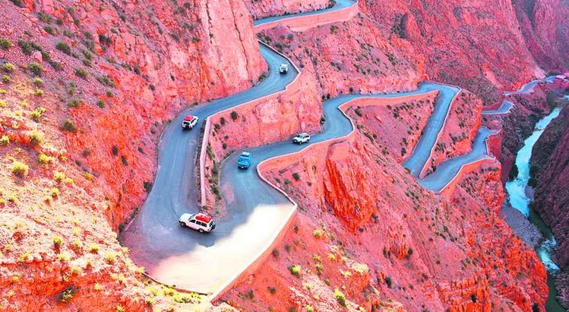 Impressionnante route des gorges du Dadès.