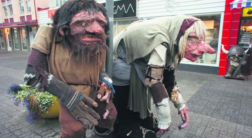 Les trolls sont omniprésents dans les villes islandaises.