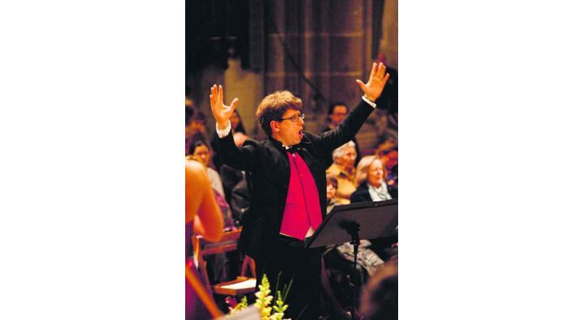 Claude-Xavier Hollenstein, directeur musical de la Cappella Genevensis.