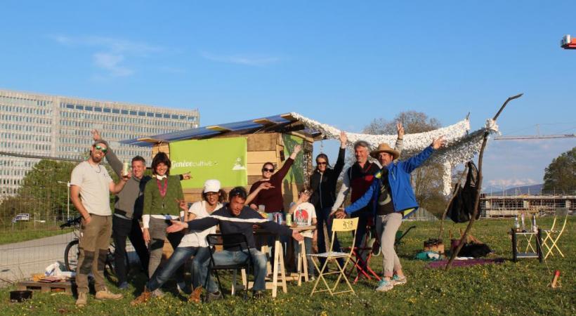 L'équipe de bénévoles s'est lancée dans l'aventure avec enthousiasme. GENèVE CULTIVE