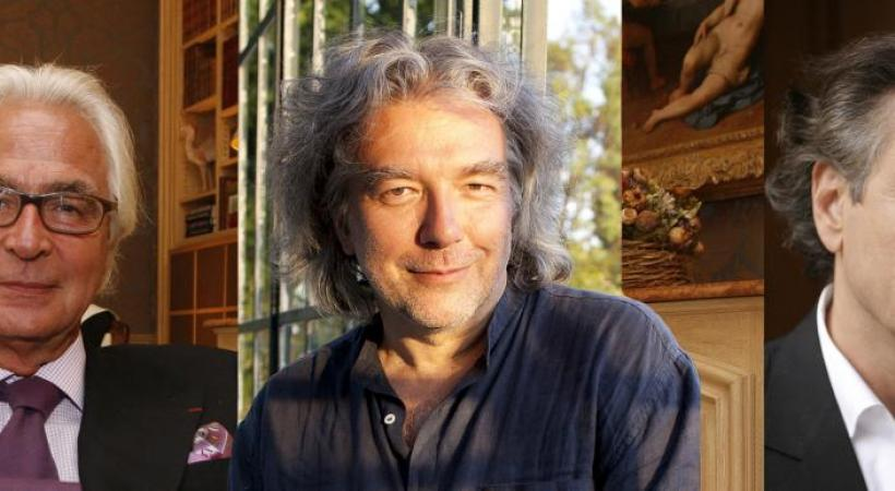 Me Marc Bonnant, le comédien Alain Carré et l'écrivain philosophe Bernard-Henri Lévy. DR