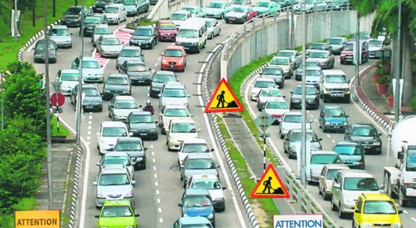 En 1970, les embouteillages dûs aux travaux étaient déjà d'actualité. DR