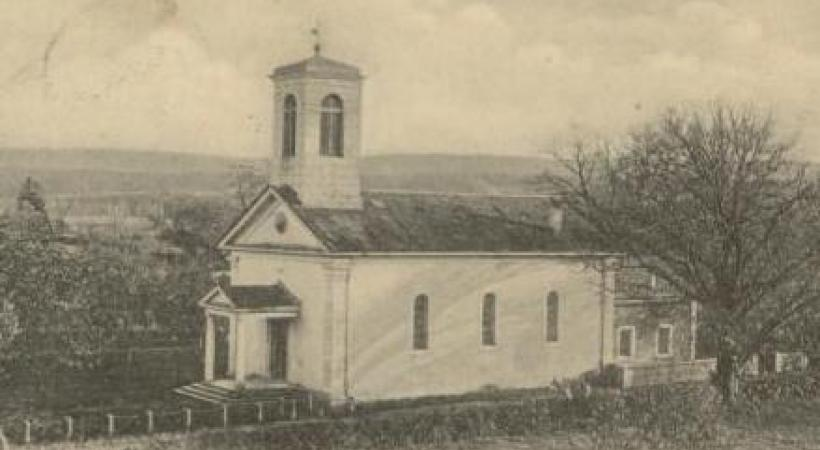 Le temple de Chancy autrefois. DR