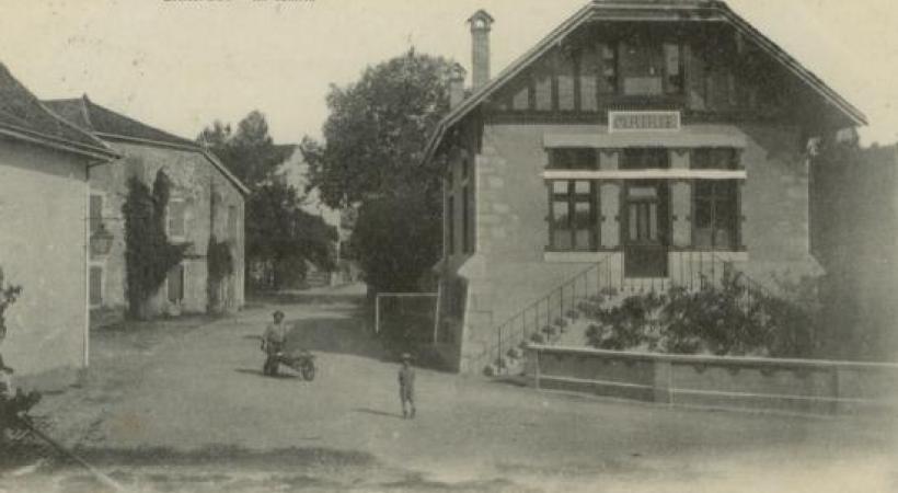La mairie de Chancy autrefois. DR