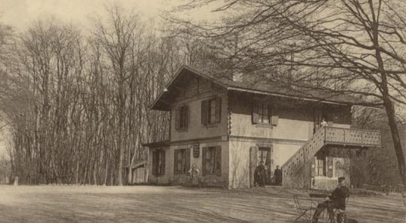 DR Le Chalet du Bois-de-la-Bâtie autrefois.
