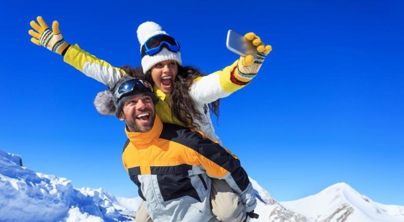 Le «Selfie Tour» permet de découvrir le domaine skiable de Châtel sous des angles inédits.  GETTY IMAGES/VALENTINRUSSANOV
