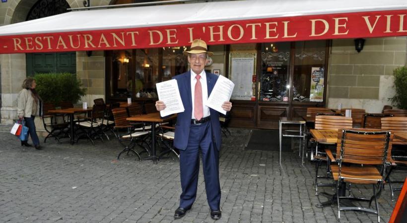 Jean-Yves Glauser, dit Glôzu, patron du restaurant de l'Hôtel-de-Ville