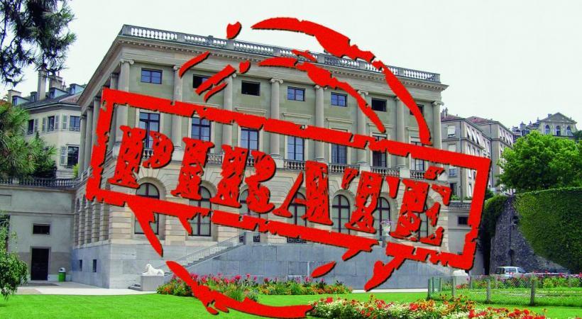 Le palais Eynard, qui abrite les bureaux du Conseil administratif de Genève, a été attaqué. COMMONS/WIKIMEDIA.ORG