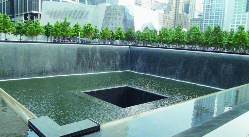 Le monument à la mémoire des victimes des attentats du 11-Septembre.