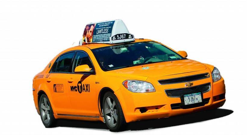 Les célèbres taxis jaunes  de «Big Apple».