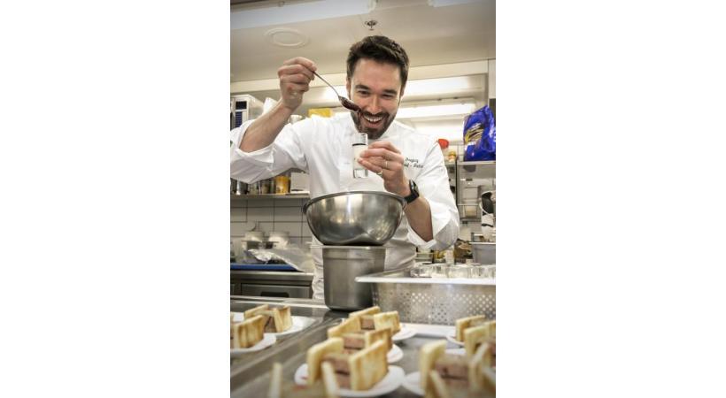 Gregory Schaad-Jackson, cuisinier d'«Al Dente», émission du samedi sur la RTS. DR