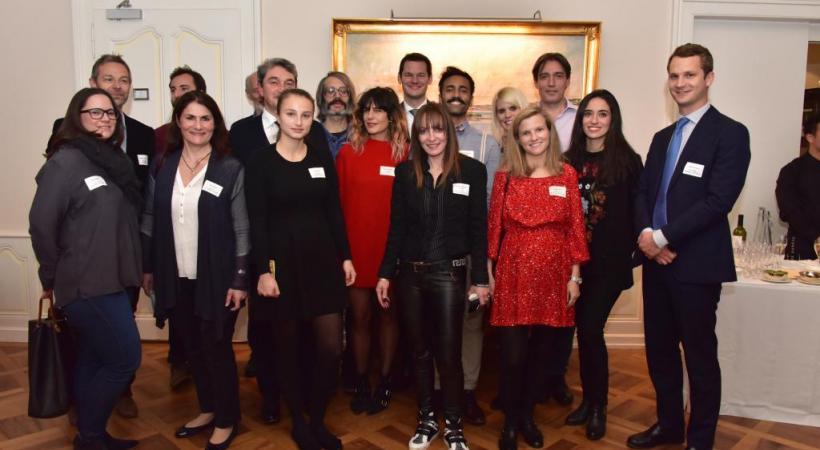 Les lauréats de l'édition 2017 entourent le magistrat Pierre Maudet. DAVID ROSEMBAUM-KATZMAN