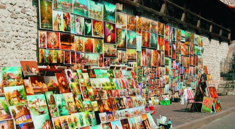 L'art religieux se retrouve également  en peinture.