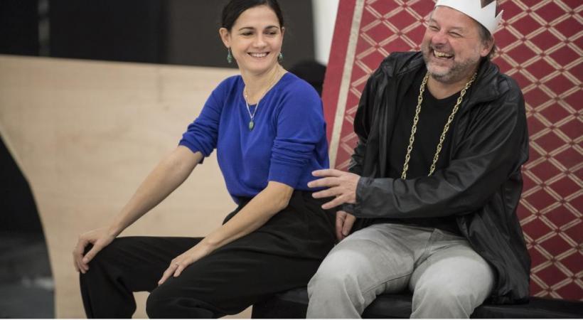 Melody Louledjian (Arsena) et Jean-Pierre Furlan (Barinkay), en répétition. GTG/CAROLE PARODI
