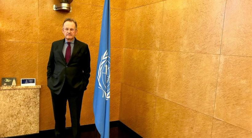 Michael Moeller: «Le Palais des Nations et les agences alentour sont la maison du peuple.»  FRANCIS HALLER