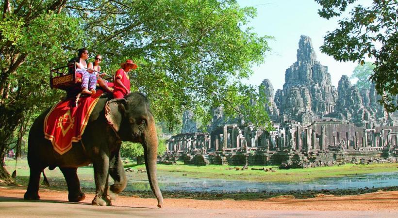 Les temples d'Angkor, au Cambodge, un site d'une rare finesse architecturale. croisieurope