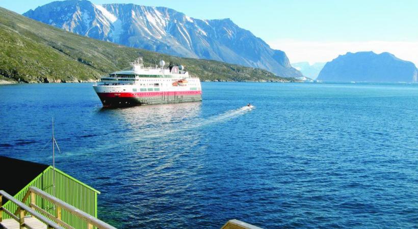 Le Fram est un bateau spécialement équipé pour la navigation nordique. BERNARD PICHON