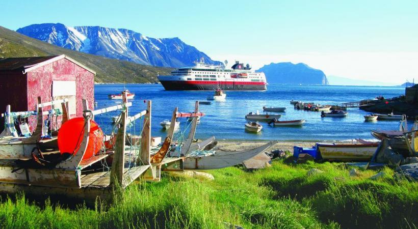 Le «MV Fram» est un bateau spécialement équipé pour la navigation nordique.