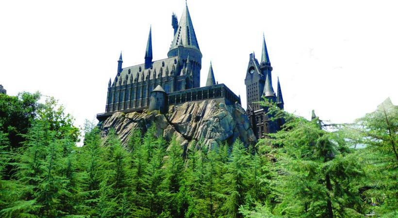 Le château de Potter a de quoi rivaliser  avec celui de Disneyland.
