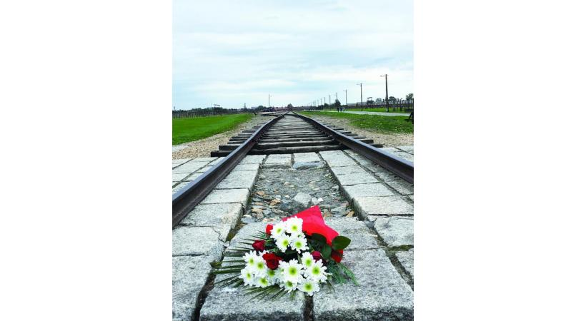 Auschwitz-Birkenau, là où les trains des déportés arrivaient.