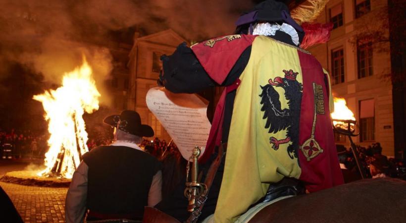 La Compagnie 1602 fait revivre aux Genevois l'historique nuit de l'Escalade. LUC BUSCARLET