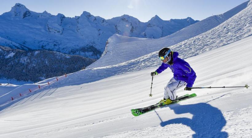 La station haut-savoyarde dispose d'un vaste domaine skiable. D. MACHET