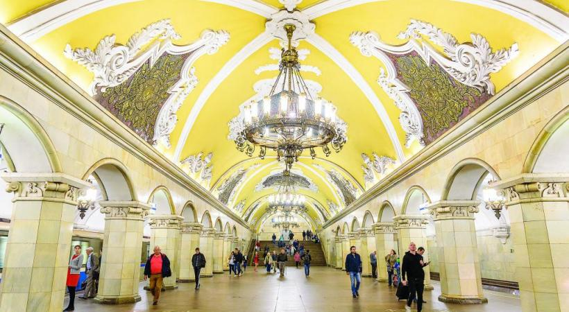 Les stations du métro de Moscou, de véritables galeries d'art. 123RF/ WERAYUT BANJONGKAEW