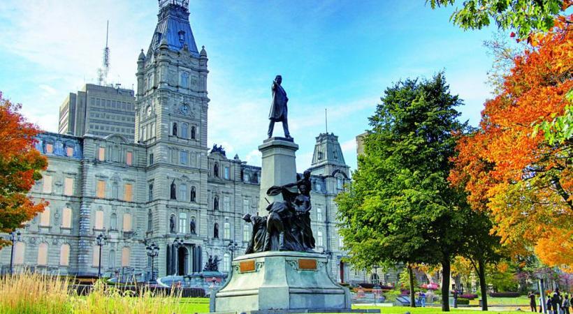 La place Royale de la vieille ville de Québec: atmosphère de ville européenne. 123RF/  GIUSEPPEMASCI