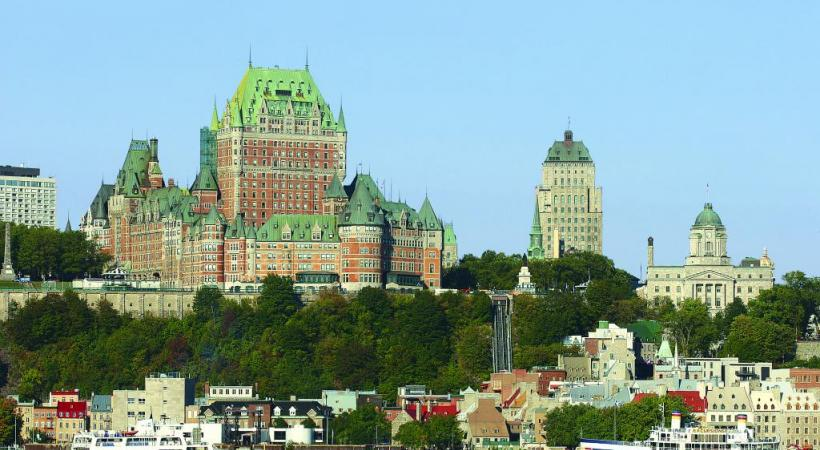 Le château Frontenac, symbole incontournable de Québec, la capitale de province francophone du Canada. ISTOCK