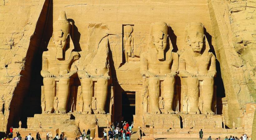 Le site d'Abou Simbel et ses colosses, taillés à même la roche. Fascinant. 123RF/HECKE