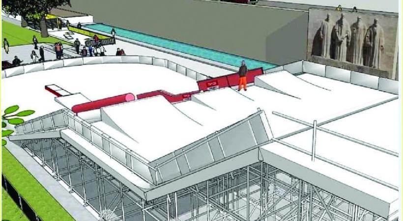 La structure sera installée devant le mur des Réformateurs. VILLE DE GENèVE