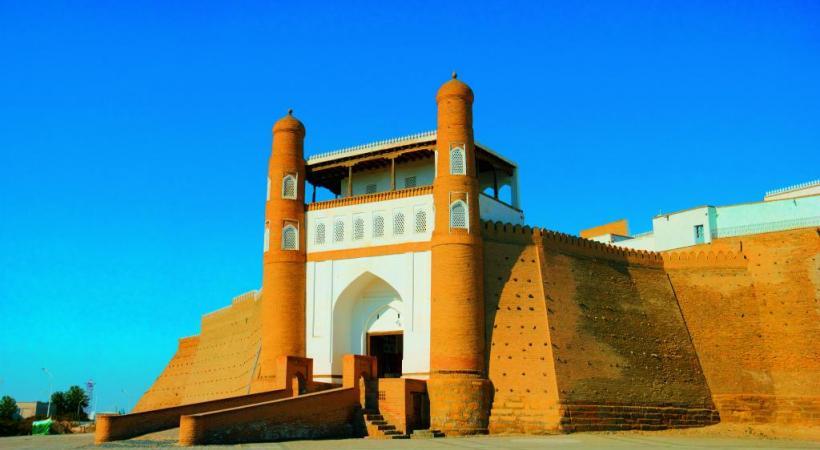 Le minaret Itchan'kala à Khiva.