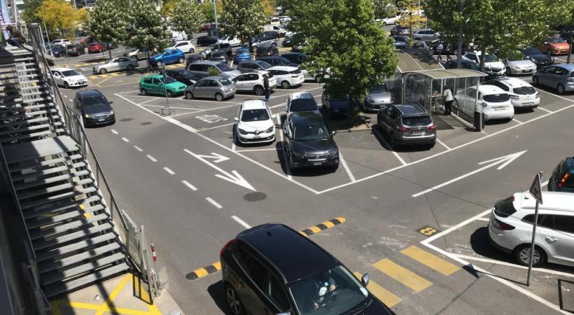 La fan zone occupera trois soirs durant une partie (15'000 m2) du parking. FRANCIS HALLER