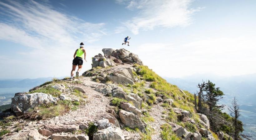 Le trail running ou course en montagne s'exprime dans un décor de rêve. JB BIEUVILLE