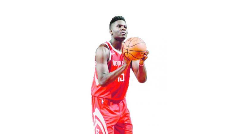 Clint Capela, la superstar du basket va mettre  le feu à Genève. DR