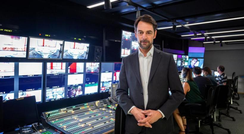 Pascal Crittin: «On ne déserte pas Genève. On ne vend pas la tour.» LAURENT BLEUZE/RTS