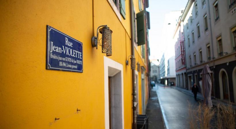 La rue Jean-Violette pourrait être rebaptisée «rue Grisélidis-Réal». STéPHANE CHOLLET