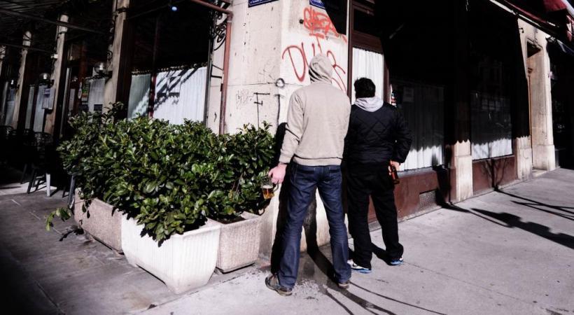 A la rue de l'Ecole-de-Médecine, les urineurs ne se gênent pas… PASCAL BITZ