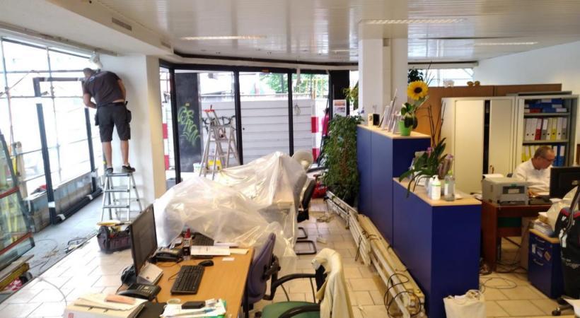 Les nuisances du chantier ont fait fuir de nombreux clients de l'agence de voyages Ad Gentes. DR