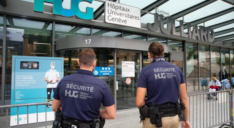 La sécurité aux Hôpitaux universitaires de Genève est assurée par 38 agents. STéPHANE CHOLLET