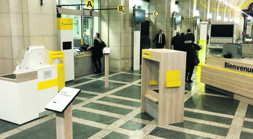 La filiale de Genève Mont-Blanc dispose désormais d'un «Poste-Bar». LA POSTE